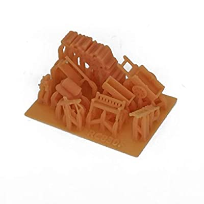 Outland Models Railroad Scenery Country Farm Tool Accessory Set Z Scale 1:220: Toys & Games