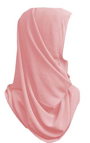 (Nuyana Couture Premium Georgette Chiffon Hijab Scarf (Rose Pink))