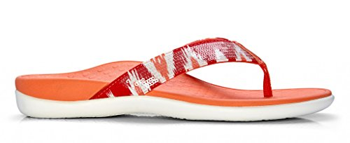 Free Vionic with Orthaheel Technology Womens Tide Sequins Toepost Orthotic Sandal Coral Size 6
