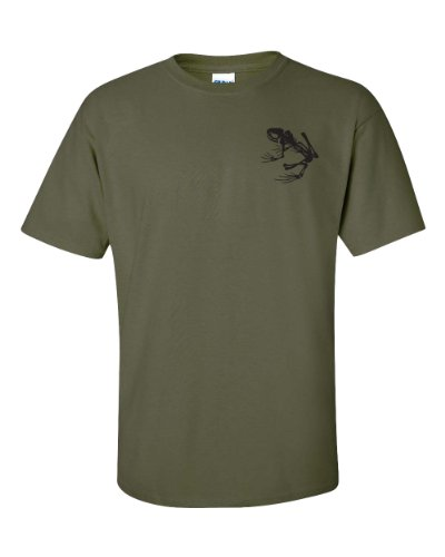 Jacted Up Tees Navy Seal Skeleton Frog Logo Front & Back Men's T-Shirt SHIPS FROM OHIO USA
