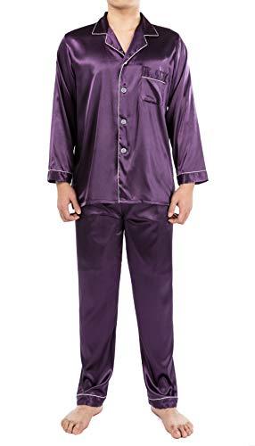 YIMANIE Mens Silk Satin Pajamas Set Classic Sleepwear Loungewear ()