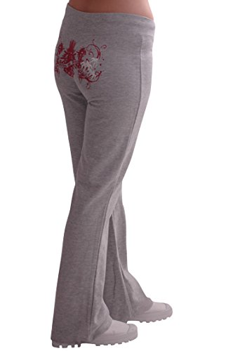 31x2WDC48nL - Eyecatch - Casual Graphic Ladies Joggers Jogging Tracksuit Bottoms | X-Large