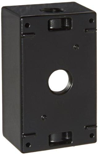 RAB Lighting B3B Weatherproof Single Gang Rectangular Box with 3 Holes, Aluminum, 1/2
