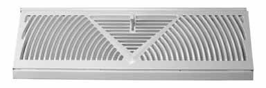 Truaire C115SW 15-Inch(Duct Opening Measurements) Floor Baseboard Supply 15-Inch Floor Baseboard Diffuser, White