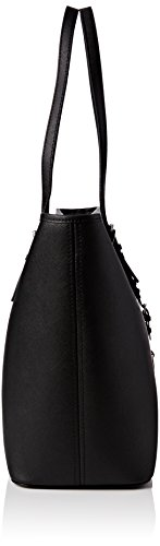 Michael Kors Jet Set Travel Medium Top Zip Multifunction Tote, Bolso Totes para Mujer, 30x15x39 cm (W x H x L) Negro (Black)