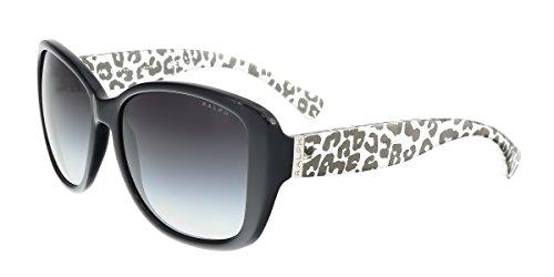 Ralph by Ralph Lauren Women's 0RA5182 Round Sunglasses, Black,Gray & Gradient Nero, 57 - Ralph Glasses Round Lauren