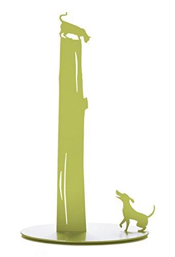 Artori Design AD166 Green Dog vs. Cat - Paper Towel Holder - Metal (Green Paper Towel Holder)