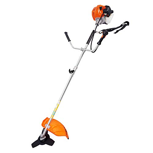 ECO-WORTHY 2-Cycle Gas Powered String Trimmer Straight Shaft Weed Eater with Line, Brush Cutter Edger Blade
