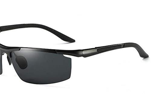sol de metal de de metal de FlowerKui marco la gafas Gafas sol marco UV400 de del protección de del libre al pesca Black del aire qARx5YR