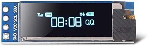 ZHITING 2 St/ück I2C OLED-Anzeigemodul 0,91 Zoll I2C SSD1306 OLED-Anzeigemodul I2C OLED-Bildschirmtreiber DC 3,3 V ~ 5 V f/ür Arduino blau