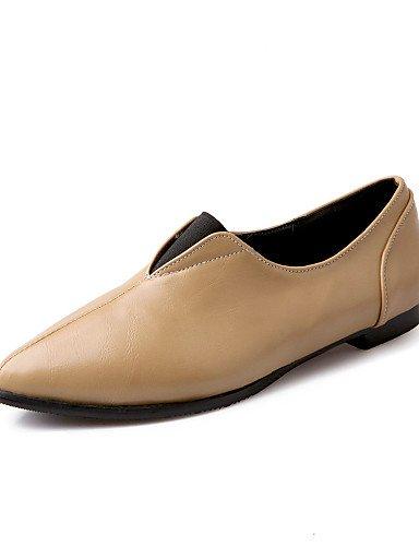 Casual Negro Eu36 De Talón Cn36 Flats Plano Pdx Toe señaló rojo marrón de beige Uk4 us6 Comodidad Red Mujer Zapatos TIvwC