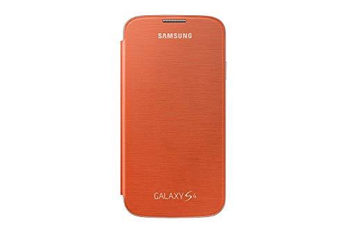 Samsung Galaxy S4 Flip Cover Folio Case - Orange (Bulk Packaging)