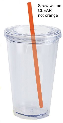 Clear Earth Eco Friendly I Am Not a Plastic Cup with Straw & Lid