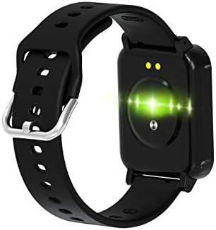 RRLOM Smart Watch Blood Pressure Monitor, Heart Monitor Smart Watch, Temperature Scanner, IP67 Waterproof, SpO2+ HR+ BP Monitor, Sports Fitness Tracker 31x2gR 8xaL
