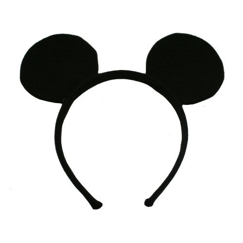 12 Quantity Disney Mickey Mouse Deluxe Fabric Ears Party Favor Costume Accessory - Cinderella Mice Costumes