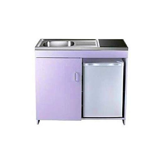 Kitchen All in One Combination Unit, Compact kitchen,Stainless Steel Sink and White body ()