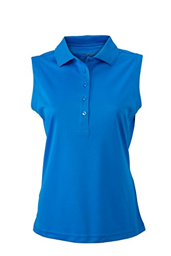 Camiseta Polo micro poliéster Camiseta Polo sin mangas micro poliéster Mujer Cobalt