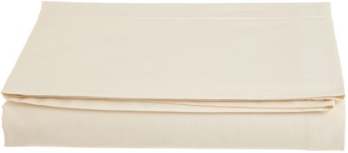 Coyuchi 300 TC Organic Sateen  Flat Sheet, Full/Queen, Undyed