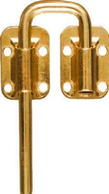 National Mfg N238-980 1-1/2-Inch Brass Sliding Door Latch -