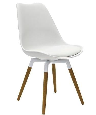 Cada Design Designbotschaft Olbia Retro Style Stuhl Weißeiche