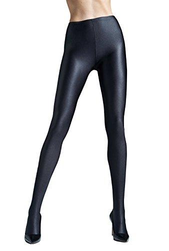 Womens Solid Black Tights | Gatta BLACK BRILLANT (Nero (Black), S ()