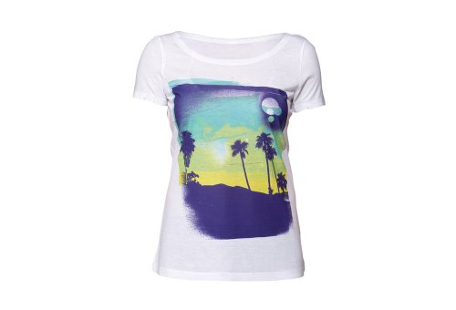 Roxy Women's Horizon Tee, Blue Sunset, X-Large