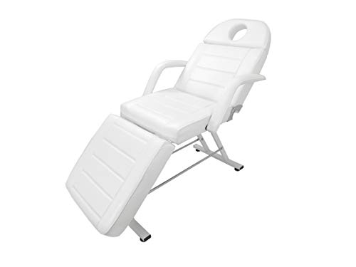 Adjustable Reclining Salon Massage Chair with Memory Foam Cushions (White), Great as Facial Bed, Massage Table, Tattoo Chair, Lash Chair, or General Salon Chair, Esthetics Furniture – eMark Beauty
