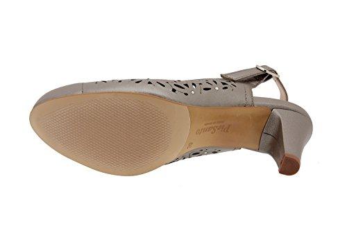 Calzado mujer confort de piel Piesanto 2277 zapato vestir cómodo ancho Titanio