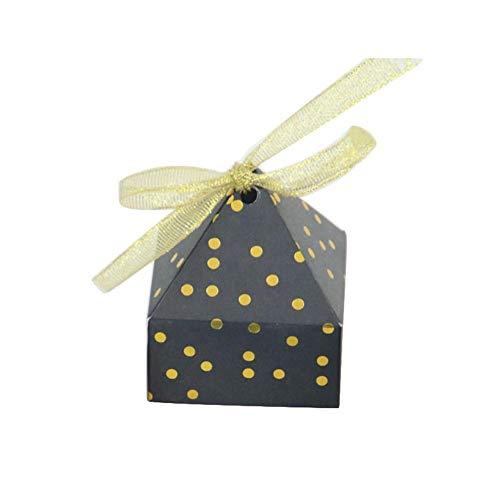- Lothver Wedding Candy Box Ribbon Dream Candy Box 50PCS Per Set