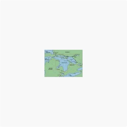 Amazon Com Garmin Bluechart Lake Huron Lake St Clair Freshwater Map Cd Rom Windows