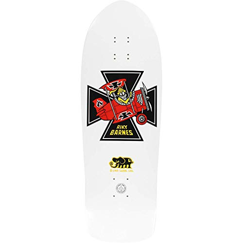 Black Label Deck - Black Label Barnes Red Baron Skateboard Deck -10.25x31.5 White Deck ONLY - (Bundled with Free 1'' Hardware Set)