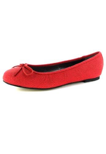 Andres Machado Damen Ballerinas - Rot Schuhe in Übergrößen