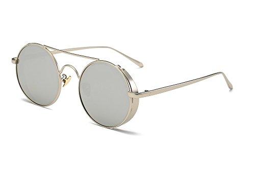 WANJUN Polarized Sunglasses Retro Travel Driving Sports Sunglasses For 2017(GS8095) (Silver frame - ()