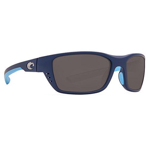 Costa Del Mar Whitetip 580P Whitetip, Matte Heron Silver Mirror, Silver - Clear Frames Sunglasses Costa