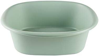 Fssh-mlx ポータブル肥厚プラスチック製の家庭用洗面台足流域の服盆地洗面台ロールエッジ (色 : 緑)