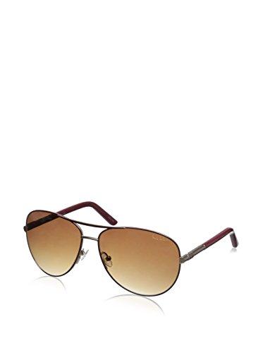 Nicole Miller Suffolk C02 Mulberry/Gold Metal Aviator Sunglasses