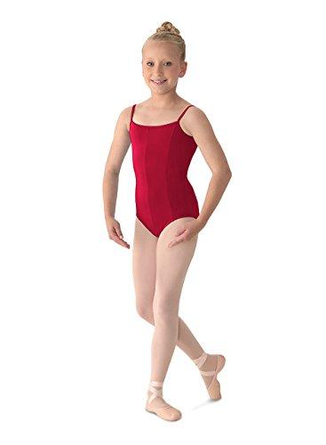 Mirella Girl's Princess Seam Camisole Dance Leotard, Garnet, 12