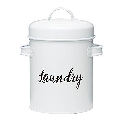 Amici Home 7CDI046R Launderette Metal Storage, 64 oz, White ()