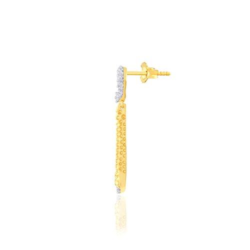 Giantti 14carats Diamant pour femme Dangler Boucles d'oreilles (0.3792CT, VS/Si-clarity, Gh-colour)