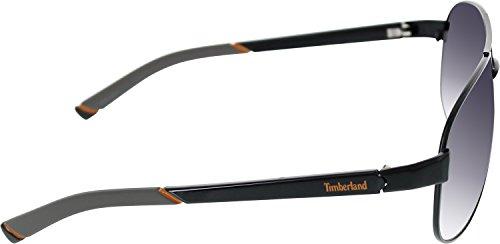 Timberland Mens 7095-02B Lunettes Aviator noir
