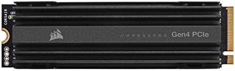 Corsair MP600 Pro Gen4 PCIe x4 NVMe M.2 SSD – High-Density TLC NAND – Aluminum Heatspreader – M.2 2280 Form-Factor