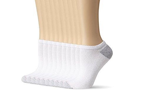 Womens Ankle Sock White, 20 Socks (Shoe Size 8-12, Socks Size 10-13) by Hanes