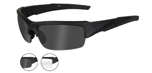 Wiley X WX VALOR Smoke Grey - Clear /Matte Black Frames (CHVAL07)