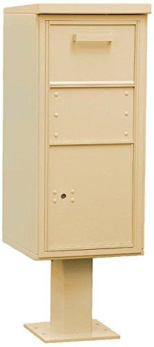 Regular Salsbury Industries 3450SAN Pedestal Collection Box Sandstone