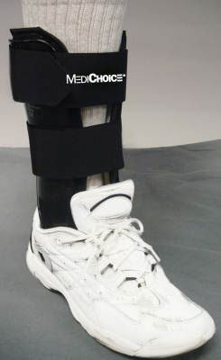 MediChoice Stirrup Ankle Brace w/Terry-Covered Foam Liner, R or L Ankle, 8 Inch, Small, 1314BRC4003 (Each of 1) by MediChoice