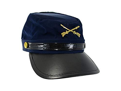 Civil War Federal Union Army Soldier Cotton Hat Navy Kepi Cap Costume Accessory -  Jacobson Hat Company, 3435-58