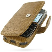 PDair B41 Brown Crocodile Leather Case for Nokia E71