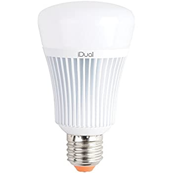 iDual A-Type E26 60-Watt Equivalent LED Smart Lightbulb, Works with iDual Remote (Sold Separately)