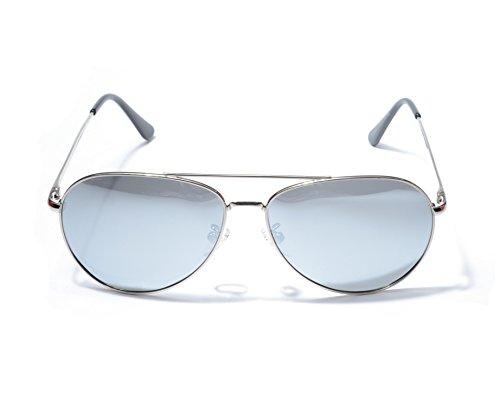 Jee Designer Mode der Frauen der M?nner UV400 Schutz Retro Polarized Aviator ¨¹bergro?en Sonnenbrillen 8064(Silber) zKDvbIR