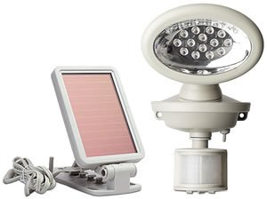 MAXSA Innovations 40217 Solar-Powered Motion-Activated 14 LED Security Spotlight